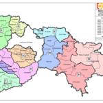 Karte - Wahlkreiseinteilung 2014 - farbig